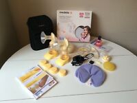 Medela Swing Double Electric Breast Pump & extras