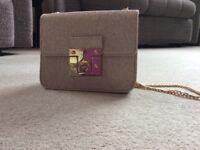 Gold tones sparkly evening bag