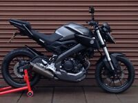 Yamaha MT 125 ABS 2015. AKRO Exhaust. Delivery Available *Credit & Debit Cards Accepted*