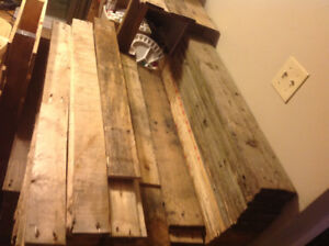 Reclaimed Pallet Wood $1.25 Per Square Foot