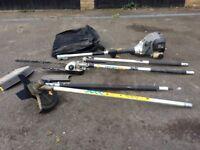 Titan 4 in 1 petrol hedge cutter/chainsaw/brush cutter/strimmer