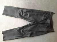 "Men's leather trousers/jeans W 34"" L 28"""