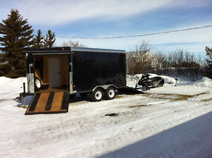 Two place enclosed trailer.