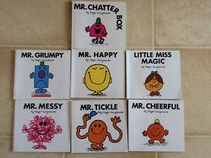 Mr.Men Little Miss DVD's and Books Lot