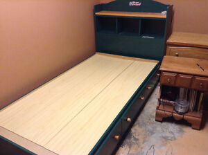 Twin Sized Captain's Bed