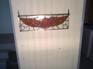 STAINED GLASS HARLEY DAVIDSON WINGS
