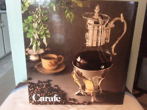 Silverplated and Glass Coffee Carafe**Price Dropped**