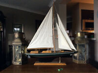 Cutter Sailboat: not a Tall Ship Racing Sailboat Model