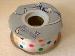 Large roll of polka dots multicoloured ribbon Brand New London Ontario image 2
