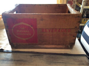 Collectible Vintage Royal Crown Cola Wooden Crate