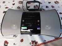 Sharp DK-A1H iPod (30 pin) stereo speaker dock, FM Radio, Line-in, Alarm Clock, Xtra Bass
