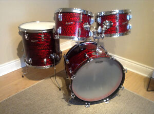 Rogers Drums vintage Red Onyx finish-USA made top quality modern