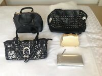 Five hand bags