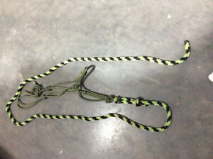 Green rope halter