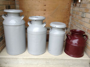 Antique Milk Cans For Sale - Reduced!!!
