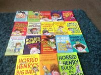 Lots of horrid Henry books