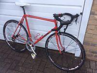 Trek 400 racing road bike 9-speed 105 sti aero wheels