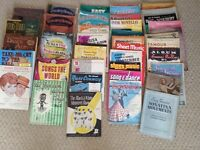 70 various books of piano sheet music