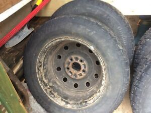 """Four 15"""" studded winter tires with rims St. John's Newfoundland image 3"""