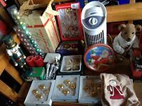 Assorted mostly new Christmas decors