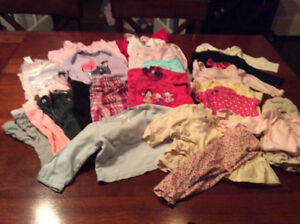 Lot baby girl clothes, size 3-6 months