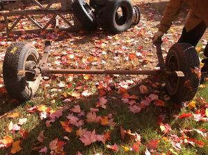 Essieu, roues et pneus