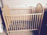 Maple Crib with Mattress