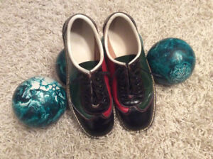 Leather bowling shoes