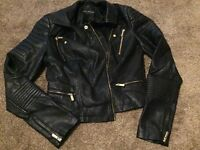 Miss selfridge leather jacket size 8