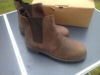 Dickies brown dealer boots size 7 £20