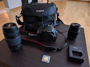 Cannon EOS Rebel T 5 Kit with 2 Lenses and Pro 5 feet Tripod