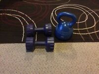 Dumbbells and kettle drum