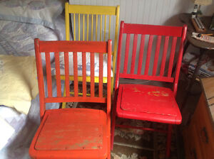 Antique Pictou Fire department chairs