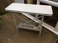 Metal table vintage style with under tray