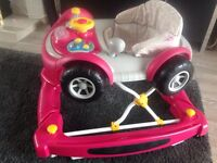 Mothercare pink 3in1 car baby walker