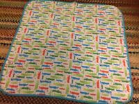Tu baby blanket, crocodile design
