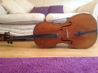 Stunning antique cello for sale, unlabelled, worth £8000
