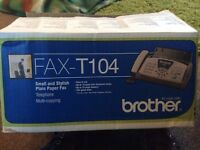 Brother FAX-T104 Thermal Transfer Plain Paper Fax Machine