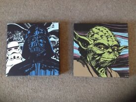 Star Wars Canvas x2