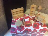Wooden Doll's House Lounge / Sitting Room Furniture Set