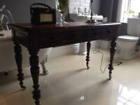 Beautiful solid vintage antique Victorian carved table desk