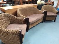 Quality wicker suite