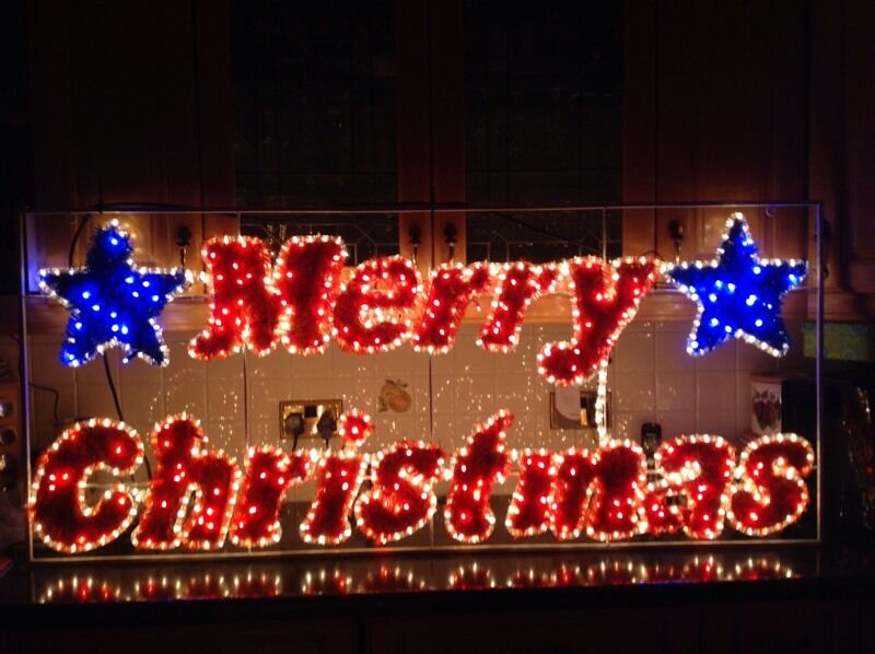 commercial industrial merry christmas led rope light sign