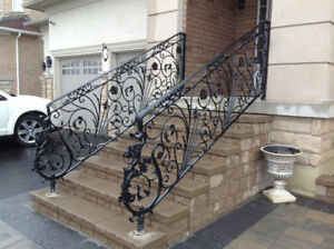 WROUGHT IRON RAILINGS AND BALUSTERS