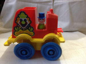 Fisher Price Vintage Clown Car and 1 clown