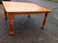 Large Solid Pine Farmhouse Dining Table 8 Seater