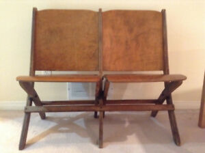 Antique Wooden Stadium Seats