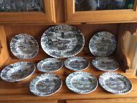 Vintage Plates Large Server