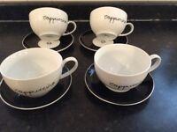 John Lewis Cappuccino cup &saucer set