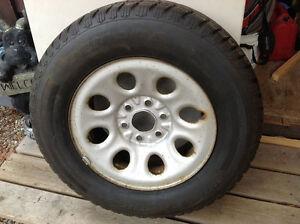 Four winter tires on Chevy rims